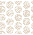 Striped Beige Spheres on White Background vector image
