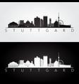 stuttgart skyline and landmarks silhouette vector image vector image