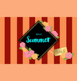 summer flowers frame or summer floral design on vector image vector image