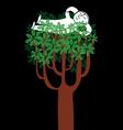 tree nap vector image vector image