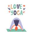 yoga girl in asana vector image vector image