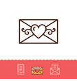 email icon phone sign envelope line thin symbol vector image