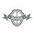 shield knight logo simple gray style vector image