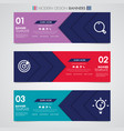 abstract horizontal design banner geometric shapes vector image vector image