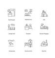 airport icons navigation set vector image