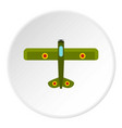 army biplane icon circle vector image vector image