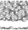 Black and white circles seamless pattern vector image vector image