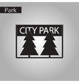 black and white style icon City Park vector image
