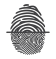 black fingerprint vector image vector image