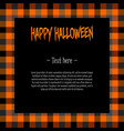 black square frame in plaid tartan vector image