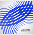 blue circle made lines on a white vector image vector image