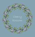 bluuming himalayan cherry wreath vector image