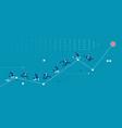 business people racing up arrow towards target vector image