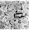 Cartoon cute doodles hand drawn photo vector image