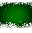 christmas green background vector image vector image