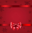 christmas poster with bow vector image vector image