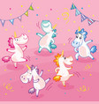 colorful cute and happy dancing vector image