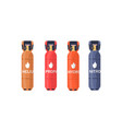 compressed gas storages flat vector image vector image