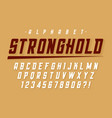 condensed strong display font design alphabet vector image vector image