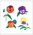 Creative hand-drawn pansies vector image