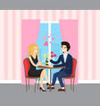 date man and woman metting lovers indoor vector image