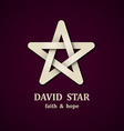 David star symbol design template vector image vector image