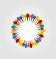 Decorative design element with spoons and forks vector image vector image