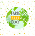 earth day 22 april concept poster vector image vector image
