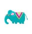Elephant Wearng A Horse Cover vector image vector image