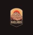 emblem patch logo badlands national park vector image vector image