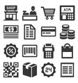 finance and shopping icons set vector image vector image