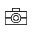 first aid simple outline icon vector image