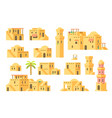 flat design arab mud houses vector image vector image