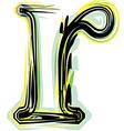 font letter r vector image vector image