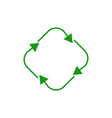 four arrow in circle refresh or recycle symbol vector image vector image