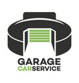 garage and wrench logo vector image vector image