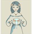 Girls astrological sign Aquarius vector image