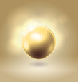 Golden glowing gorgeous pearl ball vector image vector image