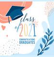 graduate 2021 background greeting card