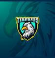 griffin eagle myth head mascot logo gaming esports vector image vector image