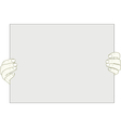 hands holding blank piece of paper vector image vector image