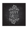Happy Fall - typographic element vector image vector image