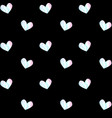 holographic heart pattern on black background vector image