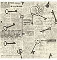 Imitation of newspaper with keys vector image vector image