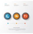 industry icons set collection of truck builder vector image