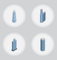 isometric construction set of skyscraper business vector image vector image