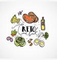 keto cook book - sketch vector image