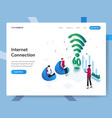 landing page template internet connection vector image vector image