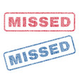 missed textile stamps vector image vector image