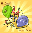 mr snail with birthday vector image vector image